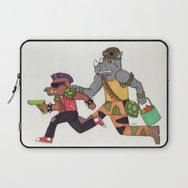 Bebop and Rocksteady Water Fight Laptop Sleeve