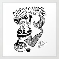 Chips and Salsa Addiction Art Print