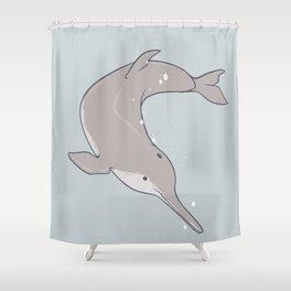 Baiji Dolphin Shower Curtain