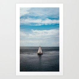 Sailboat - Lake Ontario, USA Art Print