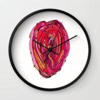 artsy Wall Clocks featuring Artsy Heart by Ingrid Padilla