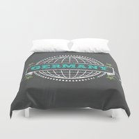 germany Duvet Covers featuring Germany by My Little Thought Bubbles