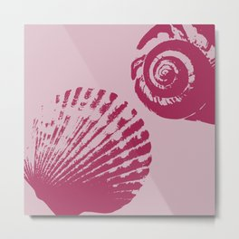 Pink Sea Shells Metal Print