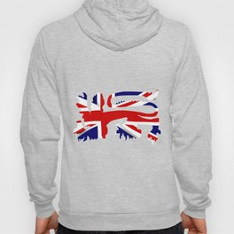 British Lion Silhouette On Union Jack Flag Hoody