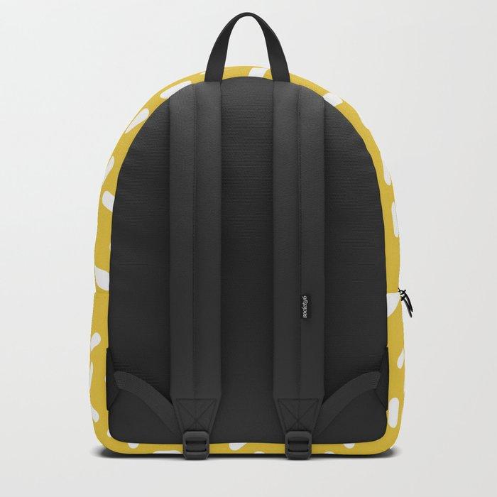 Somethin' Somethin' - yellow bright happy sprinkles pills dash pattern rad minimal prints Backpack