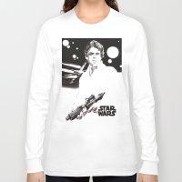 luke hemmings Long Sleeve T-shirts featuring Luke Skywalker by Popp Art