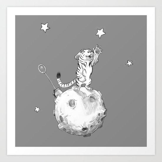 Greeting a Star Art Print