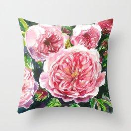 English roses Throw Pillow