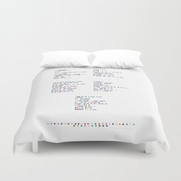 Interpol Discography in Colour Code Duvet Cover