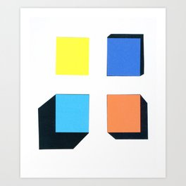 Squares in cross Art Print