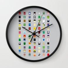 Minimalism Villains Wall Clock