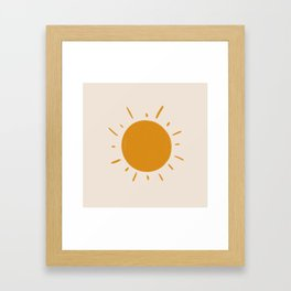 painted sun Framed Art Print