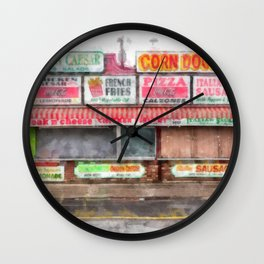 Big Steve's Italian Sausage Hampton Beach Boardwalk Wall Clock