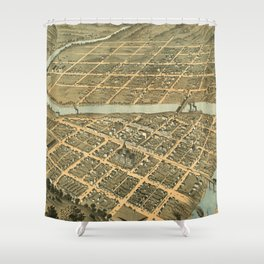 Vintage Map of Frankfort Kentucky Shower Curtain