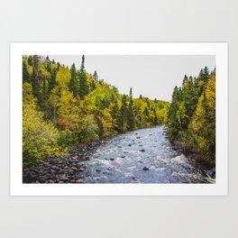 Brule River, Minnesota Art Print