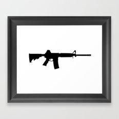 AR-15 Framed Art Print