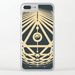 Radiant Abundance (grey-gold) Clear iPhone Case