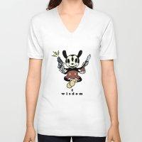 hindu V-neck T-shirts featuring Wisdom by Eric Wirjanata