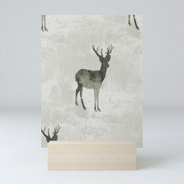 Snowing Deer Mini Art Print