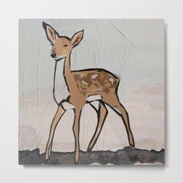 Digital Pop Art Modern Deer Metal Print