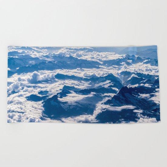 Misty Mountains Below Beach Towel