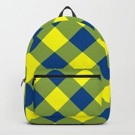 Maize & Blue Gingham Plaid Backpack