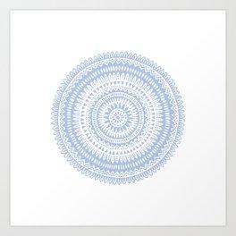 Pattern 1 Blue Art Print