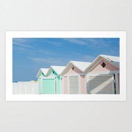 {Italy} - Pastel Beach Vibes Art Print