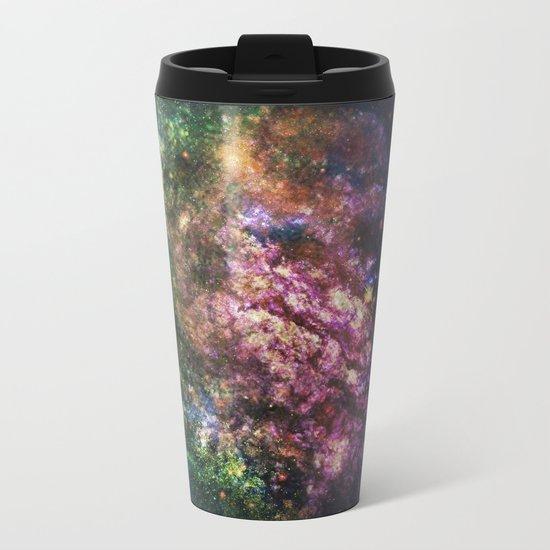 Rainbow Nebula Metal Travel Mug