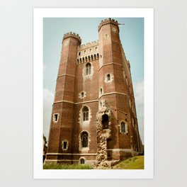 Tattershall Castle Side View - Lincolnshire Art Print