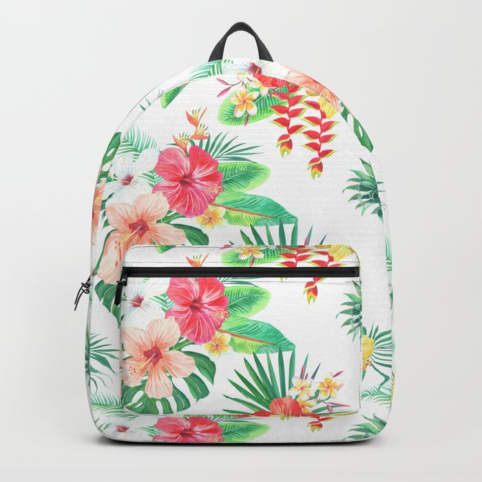 tropical watercolor floral pattern Backpack