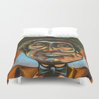 """louis armstrong Duvet Covers featuring Louis """"Pops"""" Armstrong 