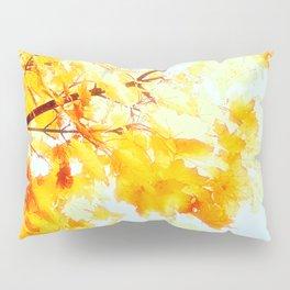 Yellow Maple leaves, Autumn Unfolds Pillow Sham