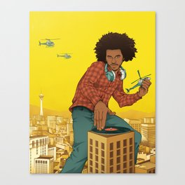Attack of the 50 Foot DJ Canvas Print