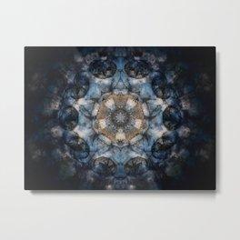 Inner World Mandala Abstract Design Metal Print