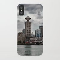 vancouver iPhone & iPod Cases featuring Vancouver Harbour by Anthony M. Davis