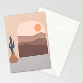 Desert Abstract  Stationery Cards