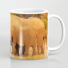Elephants in the evening light - Africa wildlife Coffee Mug