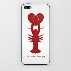 Loving Lobster iPhone & iPod Skin