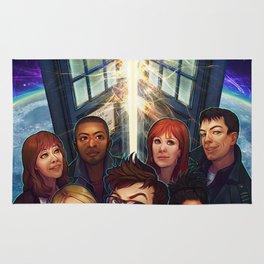 Tardis Doctor Who Team Rug