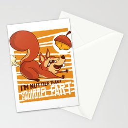 SQUIRREL FART FUNNY ART DESIGN Stationery Cards