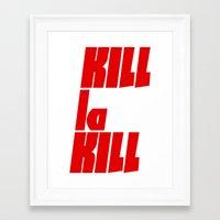 kill la kill Framed Art Prints featuring Kill La Kill by Subtle Tee