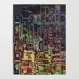 Where Are YOU -4 / Urban Density Poster