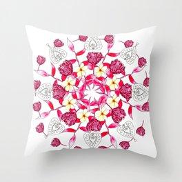 Bali Inspired Nature Mandala Throw Pillow