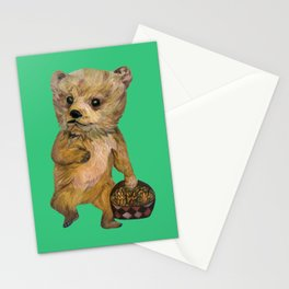 Baby Bear with Pine Cones Stationery Cards
