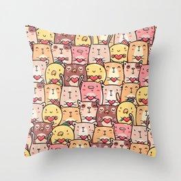 Sweet Pets Throw Pillow