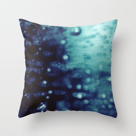 Bubbles Macro Throw Pillow