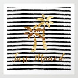 Palm Trees & Stripes - Just Maui'd Art Print