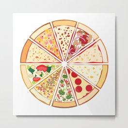 Feast of St. Pizza Metal Print