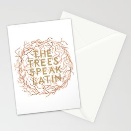 The Trees Speak Latin Stationery Cards